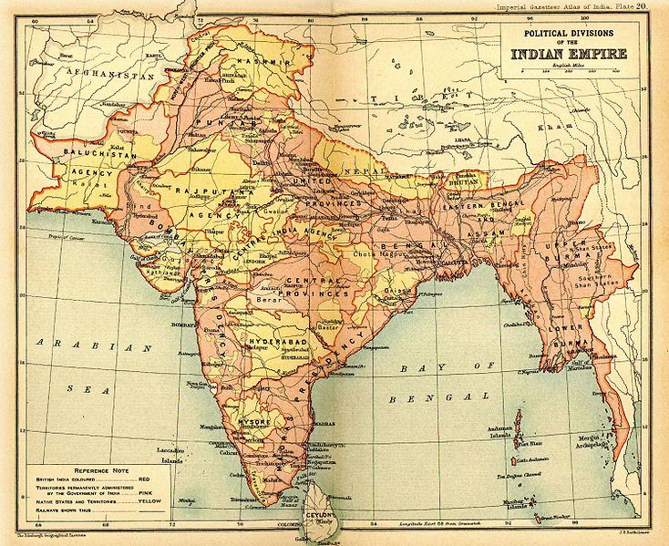 734px British Indian Empire 1909 Imperial Gazetteer of India La guerra de independencia y el genocidio de Bangladesh (1971)